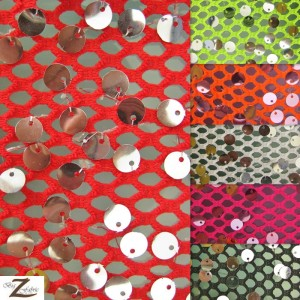 Ariel Fishnet Nylon Sequin Fabric