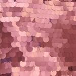 Big Dot Sequin Mesh Fabric Matte Pink