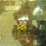 Big Dot Sequin Mesh Fabric Gold