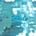 Big Dot Sequin Mesh Fabric Turquoise