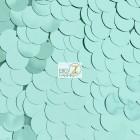 Big Dot Sequin Mesh Fabric Shiny Mint