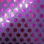 Big Polka Dot Sequins Fabric Purple