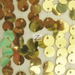Big 3/8″ Sequins Rain Drop Mesh Fabric Gold