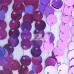Big 3/8″ Sequins Rain Drop Mesh Fabric Purple