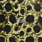 Circle Sequins Nylon Spandex Fabric Gold