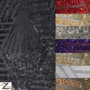 Cosmic Mini Disc Sequin Mesh Fabric