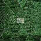 Cosmic Mini Disc Sequins Mesh Fabric Hunter Green