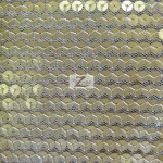 Delight Sequins Mesh Fabric Matte Gold