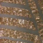 Cosmic Mini Disc Sequins Mesh Fabric Bronze