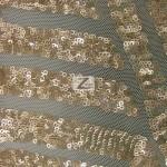 Cosmic Mini Disc Sequins Mesh Fabric Dark Khaki