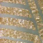 Cosmic Mini Disc Sequins Mesh Fabric Gold