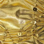 Crunchy Foil Sequins Poly Spandex Fabric Gold