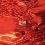 Crunchy Foil Sequins Poly Spandex Fabric Red