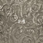 Curly Sequin Mesh Fabric Charcoal