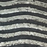 Curvy Nylon Sequins Fabric Silver