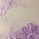 Dahlia Flower Sequins Mesh Fabric Lavender