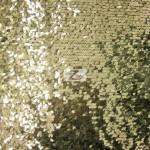 Drop Sequins Fabric Light Gold