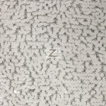 Drop Sequins Fabric White