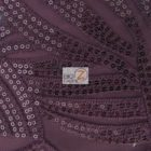Designer Evening Dress Lace Sequins Fabric Purple