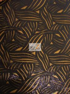 Designer Evening Dress Lace Sequins Fabric Black