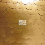 Big Dot Sequin Mesh Fabric Matte Champagne