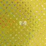 Small Dot Confetti Sequin Spandex Fabric Gold