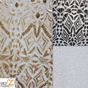 Aztec Sequins Dress Lace Fabric