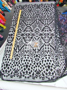 Aztec Sequins Dress Lace Fabric All Design