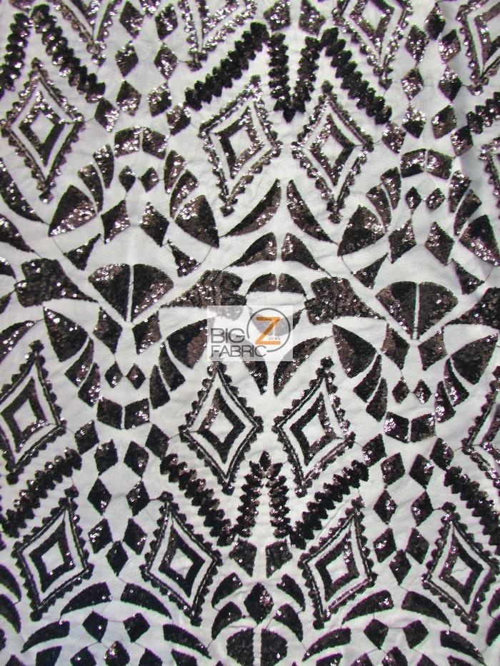 Aztec Sequins Dress Lace Fabric Sequins Fabric
