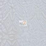 Aztec Sequins Dress Lace Fabric White