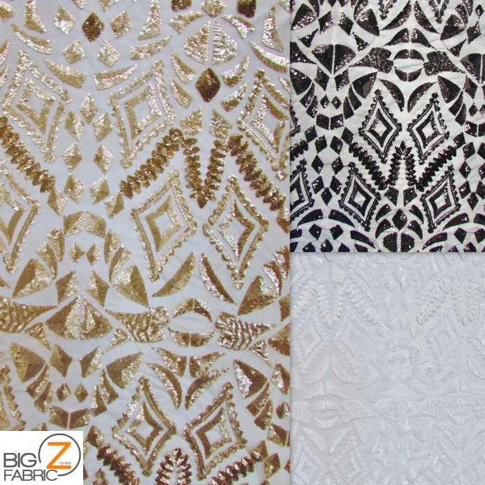 New aztec sequins dress lace fabric sequins fabric for Sequin fabric