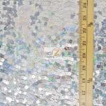 Hologram Square Sequins Spandex Fabric Measurement