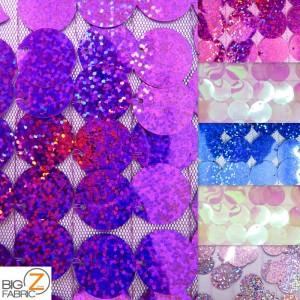 Big Dot Sequin Hologram Mesh Fabric