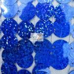 Big Dot Sequin Hologram Mesh Fabric Royal
