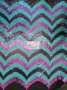 Wavy Flamingo Sequins Nylon Decorative Costume Fabric