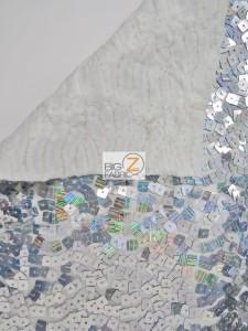 Hologram Square Sequins Spandex Fabric