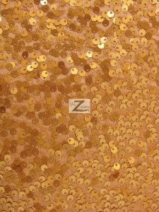 Rain Drop Sequins Fabric Brush Gold
