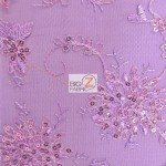 Appealing Snowflake Sequins Dress Fabric Purple