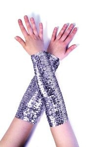 Spandex Sequins Fabric Costume Armlets