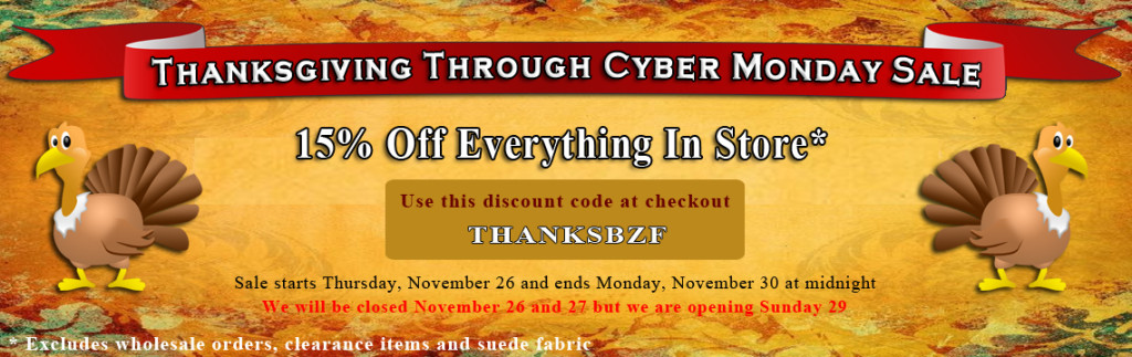 Big Z Fabric Thanksgiving Blowout Sequins Sale