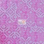 Butterfly Diamond Scalloped Sequin Fabric Fuchsia