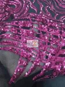 Elegant Formal Sequins Fabric Close Up
