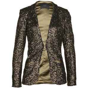 Shiny Sequins Fabric Blazer