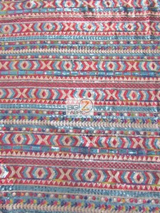 Tribal Pocahontas Sequins Mesh Dress Fabric