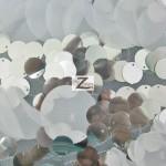 Flutter Sequin Mesh Fabric White