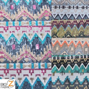 Egyptian Sequins Mesh Fabric