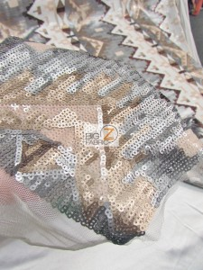 Egyptian Sequins Mesh Fabric Close Up
