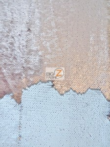 Mermaid Pearl Sequin Fabric Taupe/Cream