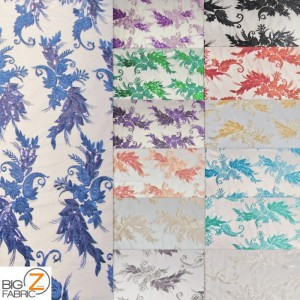 Angel Wings Floral Lace Sequins Fabric