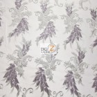 Angel Wings Floral Lace Sequins Fabric Gray